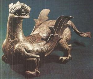 Крылатый дракон. Бронза. Китай. 4 век до н.э.