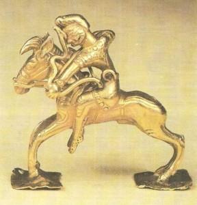 Фигурка скачущего всадника. Ахеменидский период