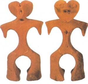 Глиняные фигурки. Период дземон. 8-1 тыс. до н.э. Япония