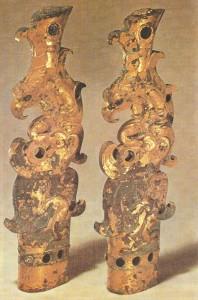 Фигурки мифических существ. Бронза, 2-1 века до н.э. Древний Китай