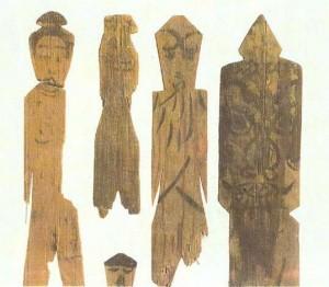 Ритуальные даосские деревянные фигурки. Киото. 9 век. Япония