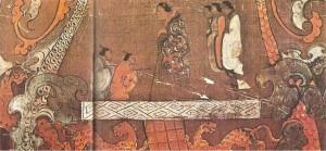 Фрагмент похронного шелкового стяга. 2 век до н.э.