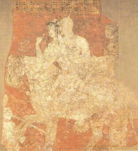 Фреска. Пенджикент. Средняя Азия. VI в. н.э.