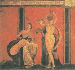 Фреска виллы Мистерий. 1 век до н.э.