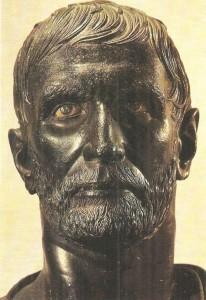 Голова Брута. Бронза. 3 век до н.э.