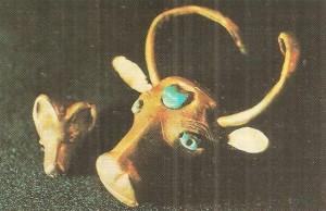 Золотая голова быка. Средняя Азия. 3 тыс. до н.э.