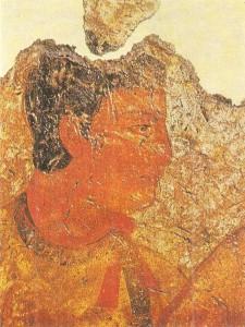 Голова мужчины. Фреска Средняя Азия. Фаяз-Тепе