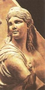 Исида. Фрагмент рельефа. 2 век н.э.