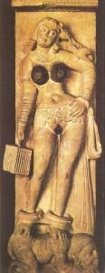 Якши, разговаривающая с попугаем. Бхутесар. Эпоха Кушан. 2 век н.э.
