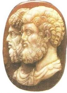 Марк Аврелий и Люций Вер. Камея. 161-169 гг.