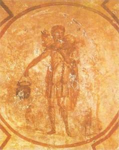 Добрый пастырь. Фреска из римскиз катакомб