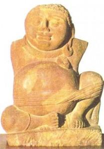 Бог богатства Кубера. Матхура. Гуптский период. 4-5 века.