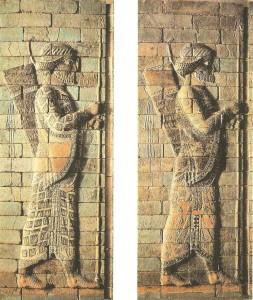 Лучники Дария I. Сузы. Ахеменидский период