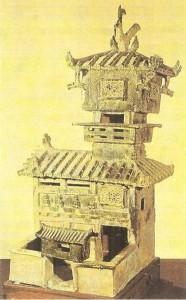 Модель башни. Керамика. Древний Китай. 2 век до н.э. Хэнань