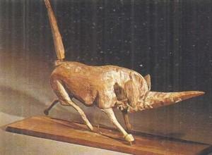 Деревянная фигурка носорога. Древний Китай.