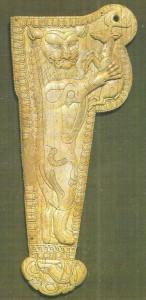 Ножны акинака. Слоновая кость. 5 век до н.э. Средняя Азия