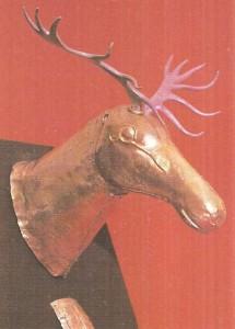 Навершие в виде головы оленя. Скифы