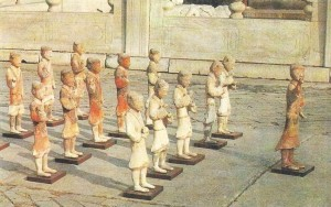 Отряд пехотинцев. Глина. Древний Китай. 2 век до н.э.