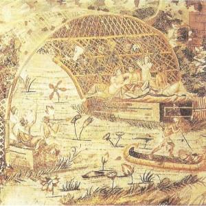 Пейзаж долины Нилы. Мозаика из Пренесты. 1 век до н.э.