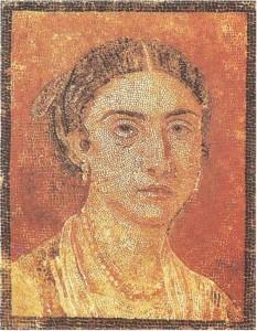 Женский портрет. Мозаика из Помпей. 1 век н.э.