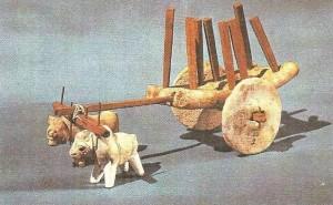 Повозка с двойной упряжкой. Мохенджо-Даро. 3 тыс. до н.э.