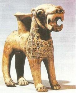 Ритон в виде льва. Кюльтепе. XVIII в. до н.э. Хетты