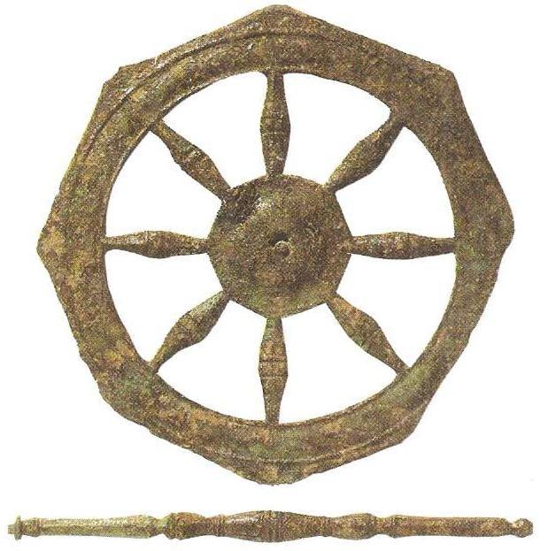 Ритуальные буддийские объекты старый