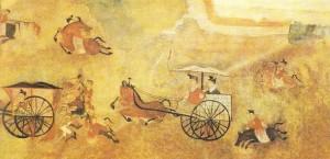 Фрагмент стенной росписи. Эпоха Хань. Китай
