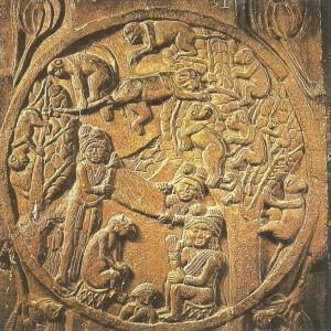 Сцена из Джатаки. Эпоха Шунгов. 2 век до н.э.