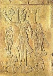 Дворцовая сцена. Эпоха Сатаваханов. 2 век до н.э.