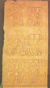 Сцены из жизни Будды. Эпоха Сатаваханов. 2 век до н.э.