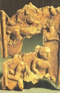 Сцена в саду. Тахти-Сангин. Средняя Азия. Первые века