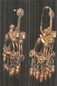Золотые серьги. Колхида. 5 век до н.э.