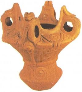 Глиняный сосуд. Период дземон. 8-1 тыс. до н.э. Япония