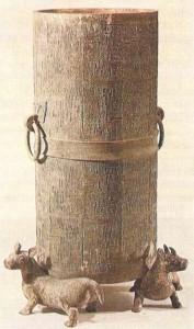 Сосуд на ножках. Бронза. Китай. 4 век до н.э.