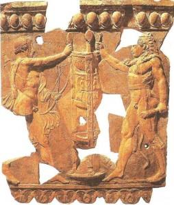 Спор Геркулеса и Аполлона о дельфийском треножнике. 28 г. до н.э.