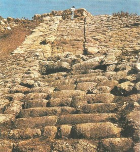 Ступенчатый подъем на западный склон Хаттусы