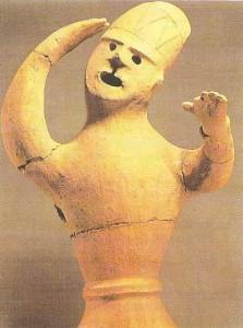 Танцор. Ханива. Период кофун. 3-6 века. Япония