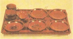 Лаковая утварь с надписями. 2 век до н.э. Древний Китай