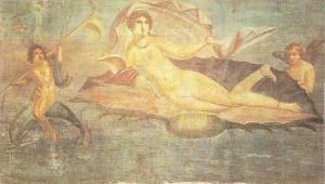 Венера. Фреска из Помпей. 1 век до н.э.