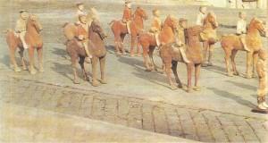 Отряд всадников. Глина. Древний Китай. 2 век до н.э.