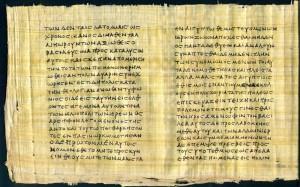Часть папируса, котором написана Египетская история