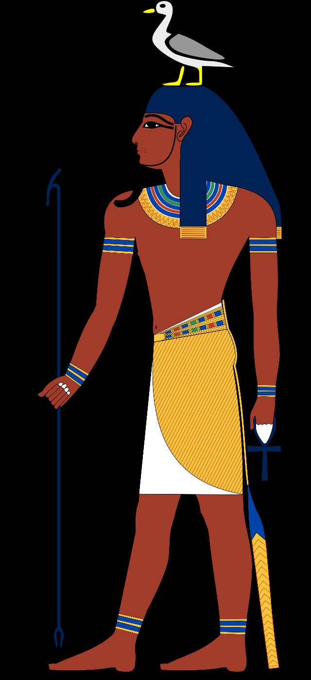 поэтапно рисунок египтянина