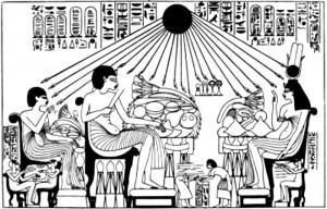 Рисунок с фрески в гробнице Эхнатона