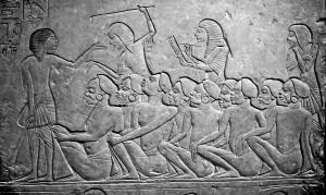 Нубийские рабы на невольничьем рынке