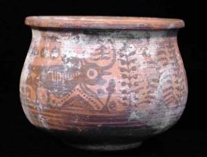 Бихромный сосуд, с изображением быков. Мехргарх. III тыс. до н.э.