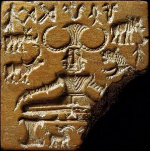 Печать с изображением прото-Шивы