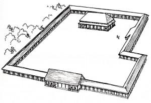 Раннешанское строение дворцово-храмого типа (реконструкция). Эрлитоу.