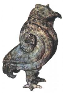 Ритуальный сосуд в виде совы — охранительницы могил. Эпоха Шан-Инь.