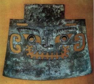 Ритуальный топор для человеческих жертвоприношений Шаньдун.